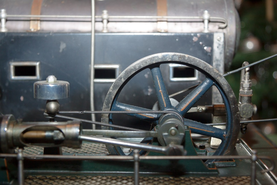 Steam Engine, Toys, Metal Construction, Technology