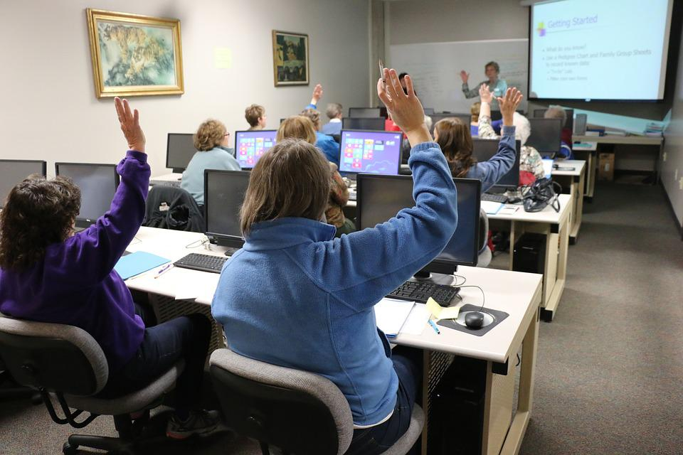 Classroom, Computer, Technology, Training, Classmates