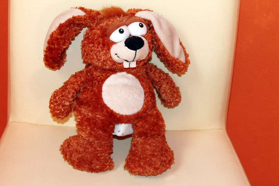 Stuffed Animal, Hare, Brown, Teddy Bear