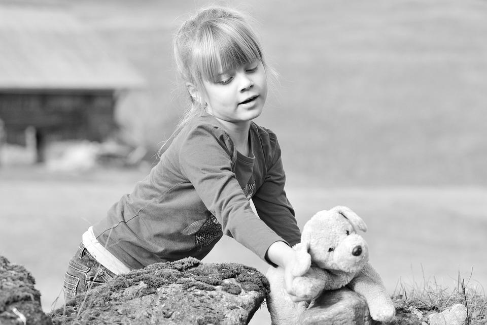 Child, Girl, Nature, Teddy Bear, Cute, Young, Childhood