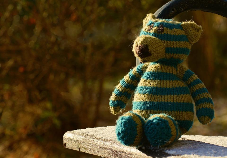 Teddy, Teddy Bear, Knitted, Wool, Children Toys, Soft