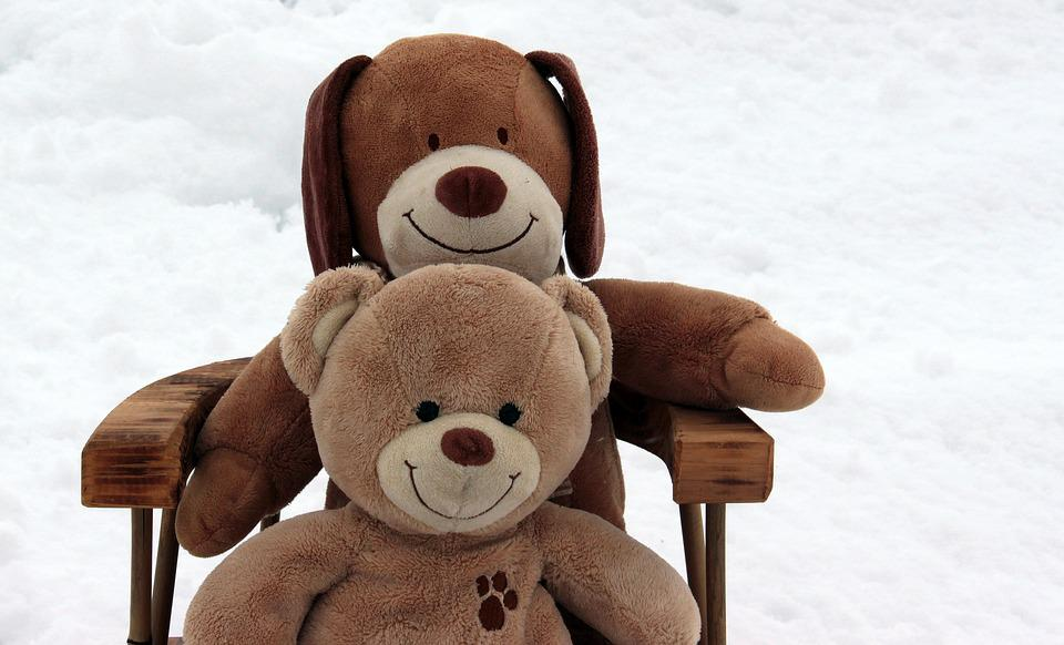 Teddy Bears, Embrace, Stuffed Animal, Soft Toy