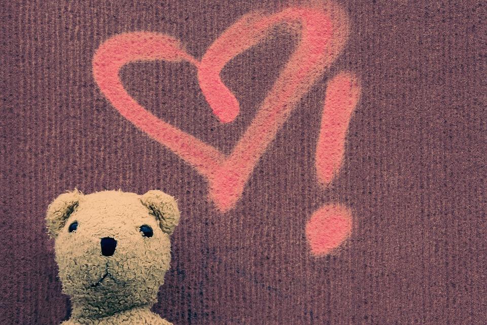 Teddy, Teddy Bear, Heart, Love, Bear, Stuffed Animal