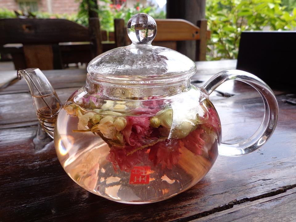 Teapot, Glass, Tee, Yangzhou, Chrysantementee, China