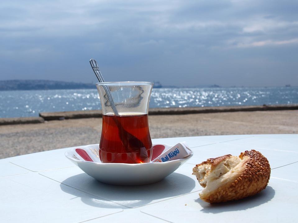Turkey, Tee, Simit, Istanbul, Exotic, Sea View, Distant