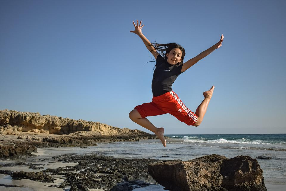Girl, Teenager, Sea, Fun, Young, Teen, Youth, Outdoor