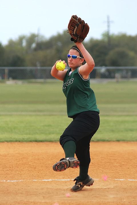Softball, Girls Softball, Pitcher, Teenager, Sports