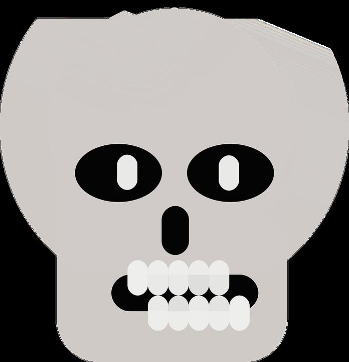 Skull, Skeleton, Bones, Funny, Human, Comic, Teeth