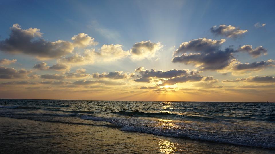 Tel Aviv, Beach, Ocean, Mediterranean, The Tayelet