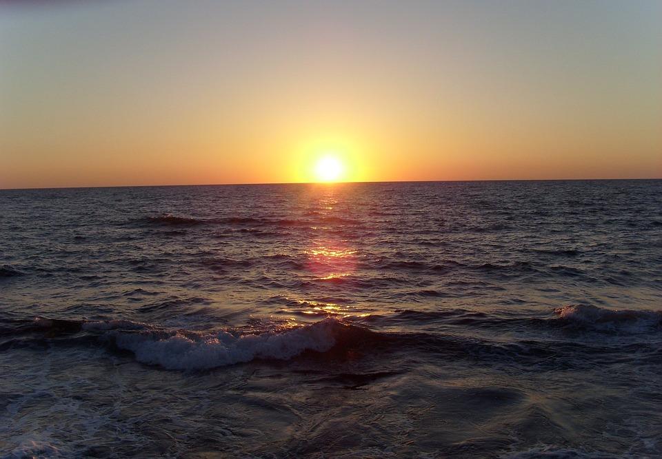 Tel Aviv, Sunset, Sea