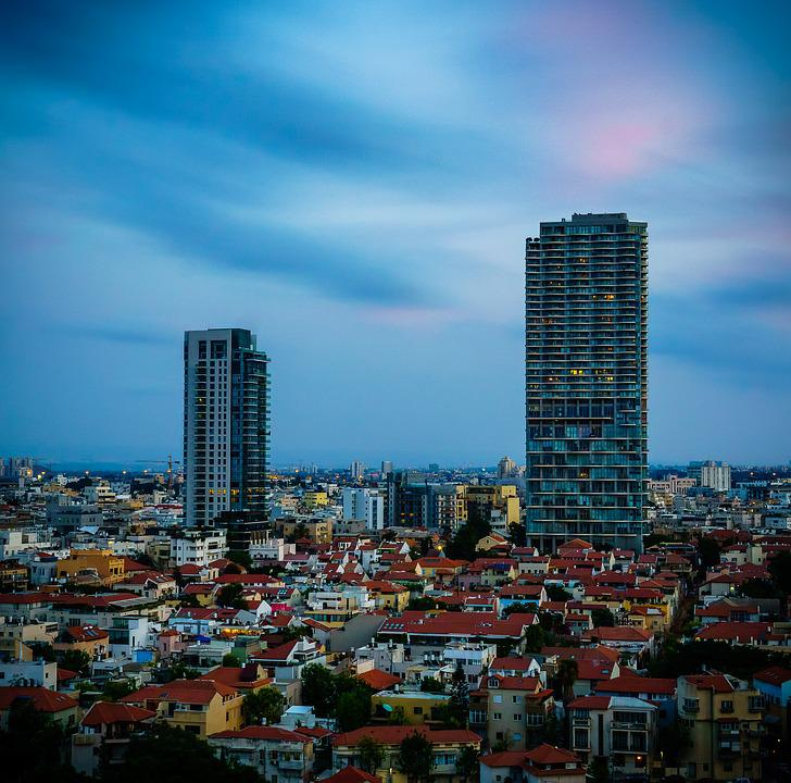 Tel-aviv, Israel, Longexposure, City, Cityscape