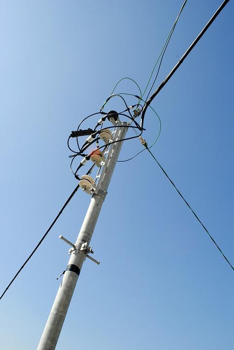 Telephone Poles, Sky, Blue Sky, Frontline