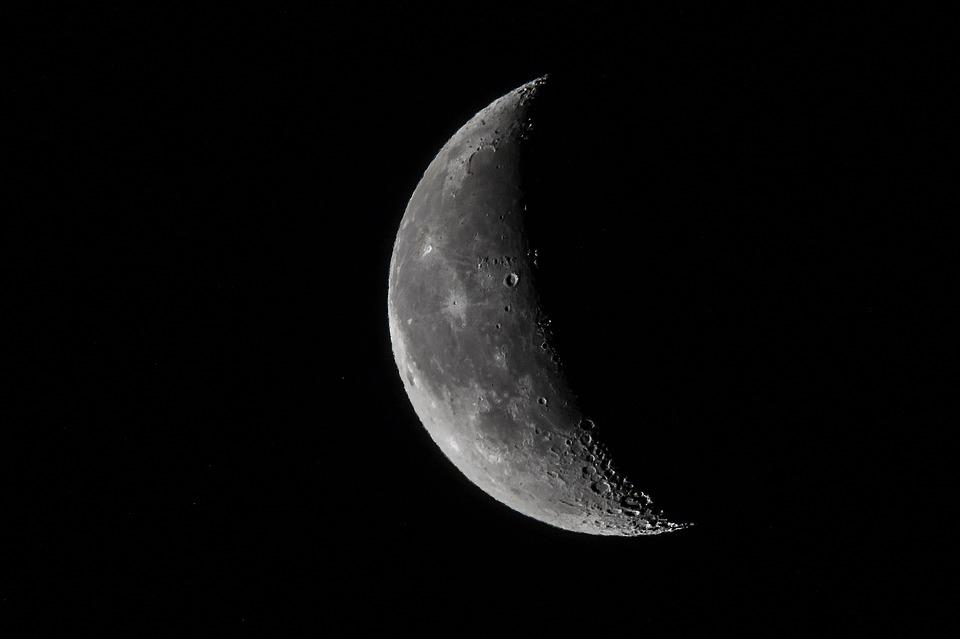 Moon, Tele, Night, Zoom, Space, Crater, Telephoto Lens