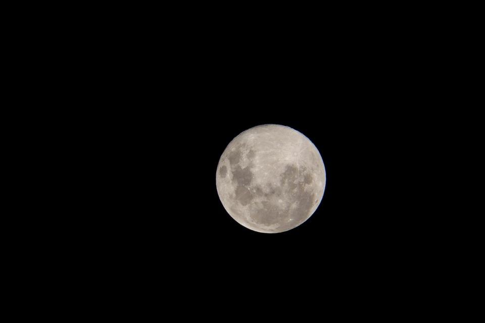 Moon, Sky, Telephoto