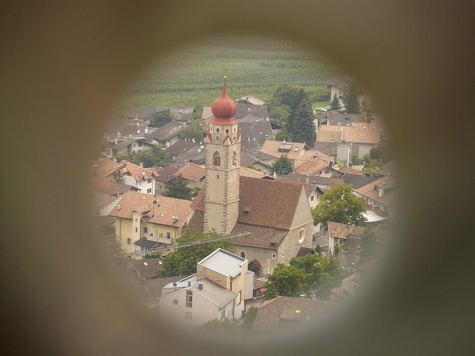 Telescope, Binoculars, View, Church