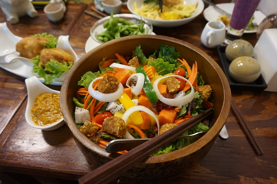 Tempeh, Salad, Vegan, Food, Fresh, Vegetable