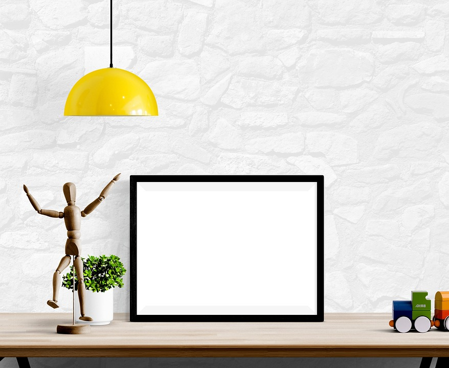 Frame, Poster, Wall, Interior, Template, Blank, Mockup
