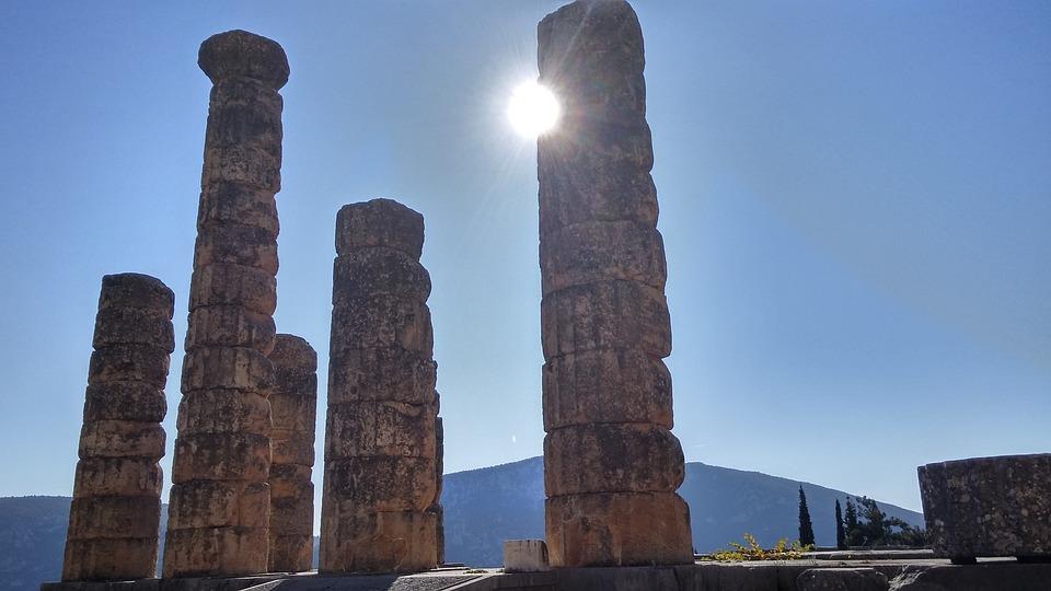 Greece, Columns, Temple, Antique, Ancient Ruins
