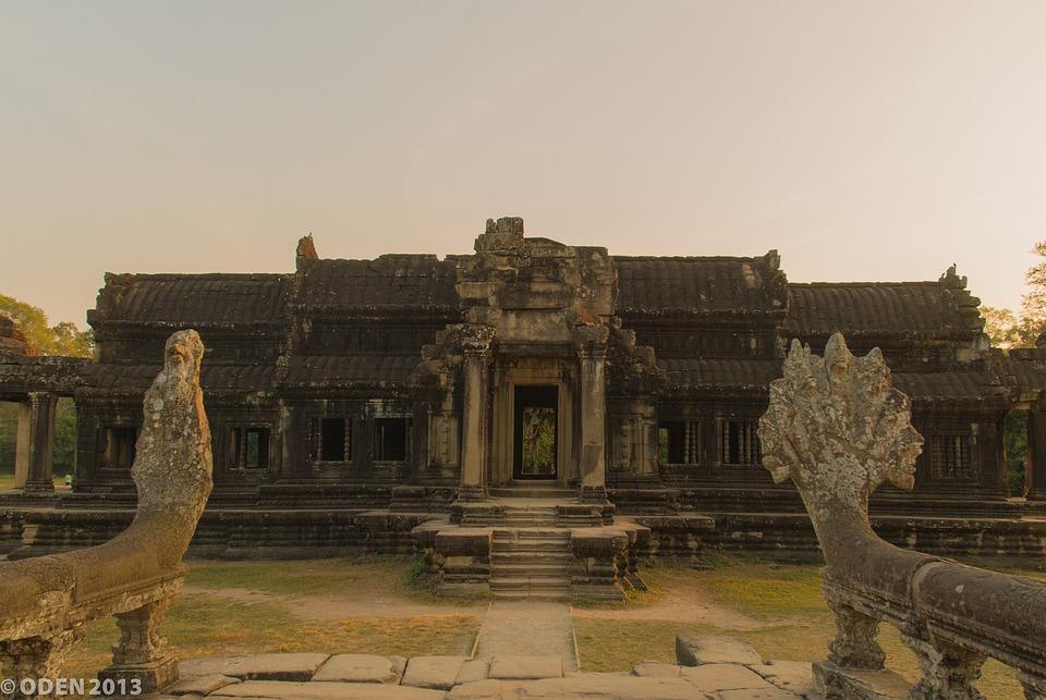 Temple, Angkor, Pagoda, Religious, Temples, Naga