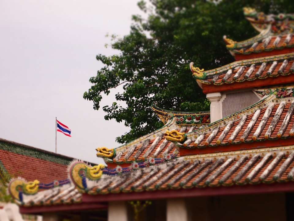 Roof, Temple, Dragons, Religion, Architecture, Asia
