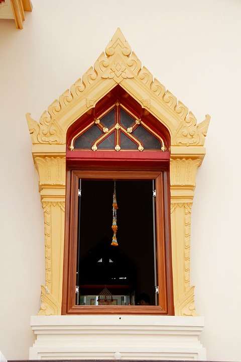 Thailand, Bangkok, Temple, Window, Asia, Palace