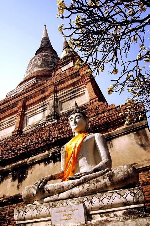 Wat, Thailand, Buddha, Temple, Buddhism, Religion