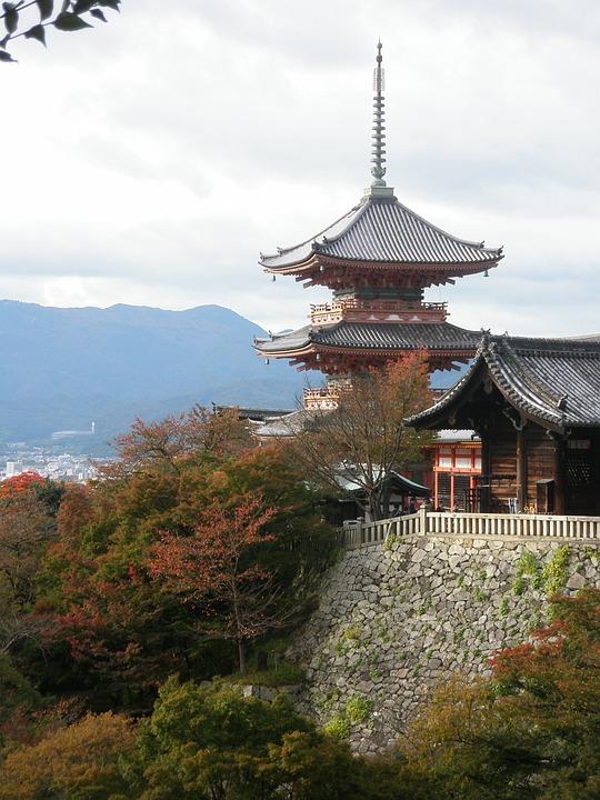 Temple, Landmark, Travel, Japan, Kyoto, Buddhist