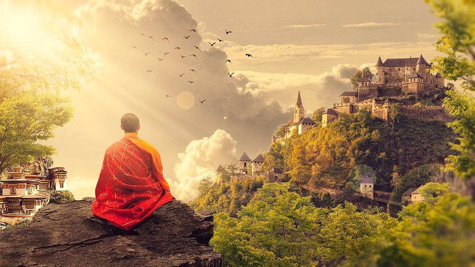 Buddhism, Monk, Temple, Panorama, Buddhist, Meditation