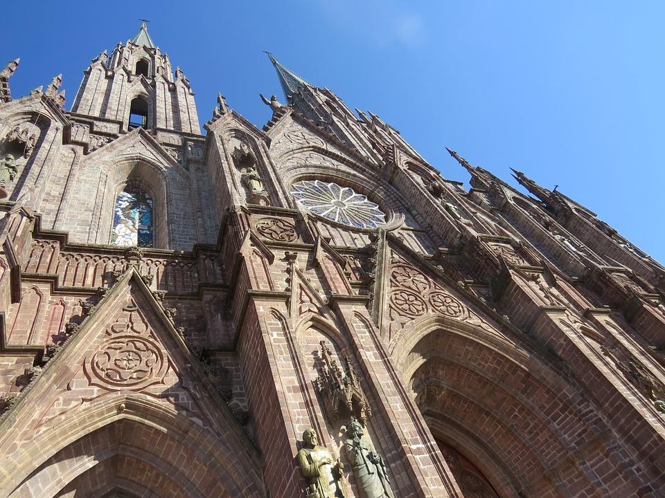 Zamora, Mexico, Temple, Cat, Church, Architecture