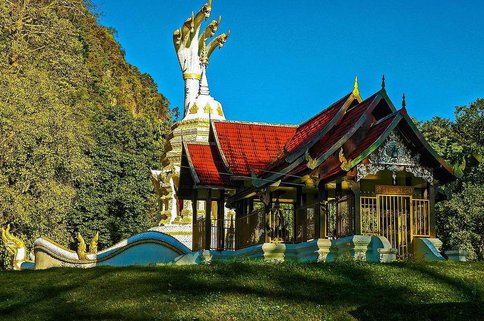 Temple, Chiang Dau, Thailand