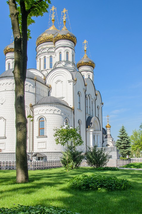 Temple, Cathedral, Church, Crosses, Dome, Orthodoxy