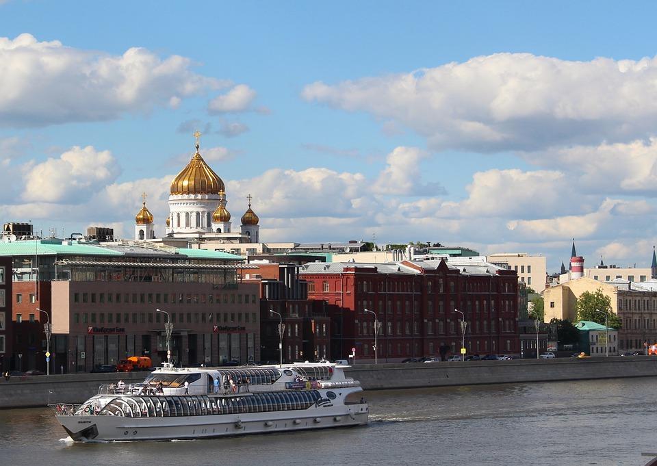 Church, Dome, Boat, Ship, River, Building, City, Temple