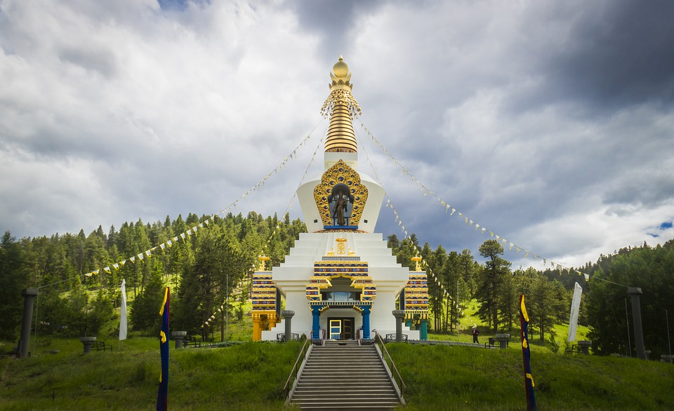 Stupa, Temple, Colorado, Buddhism, Architecture