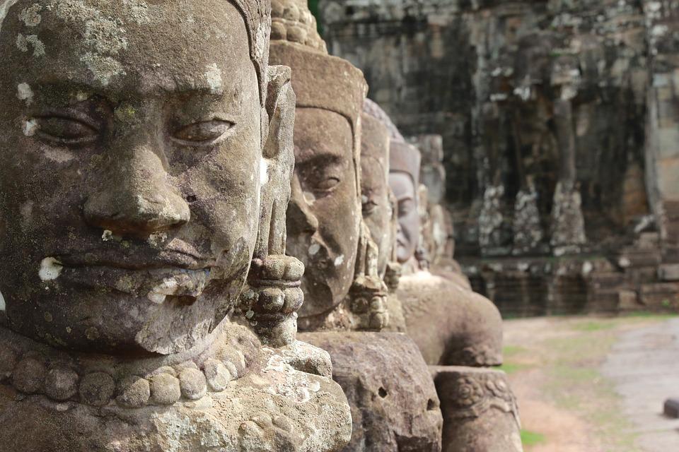 Cambodia, Angkor, Temple Complex, Angkor Wat, Sculpture