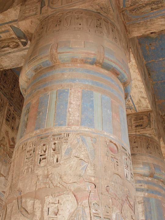 Egypt, Temple, Temple Complex, Building, Pillar