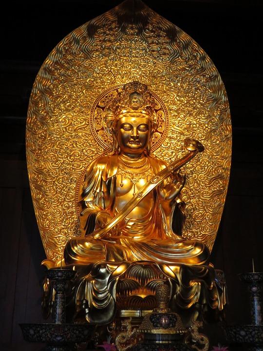 Shanghai, Temple, Buddha, Statue, Sculpture, Doré