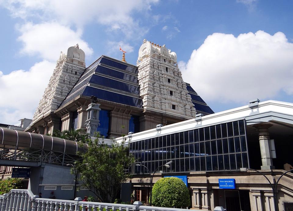 Temple, Iskcon, Krishna, Hindu, Hinduism, Religion