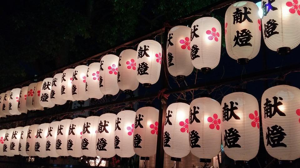 Japan, Temple, Lamps, Asia