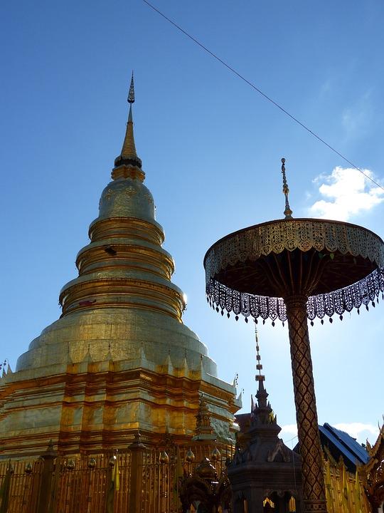 Temple, Lamphun, Thailand