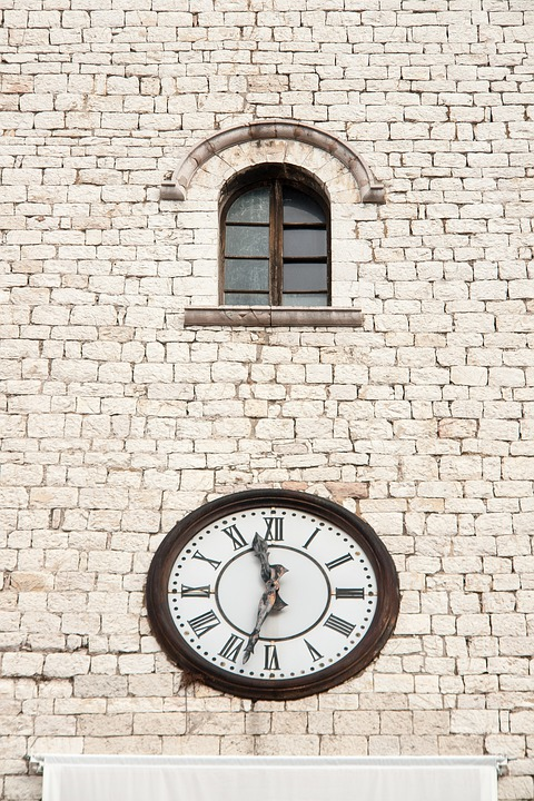 Wall, Clock, Italy, Roman, Time, Temple, Minute, Old