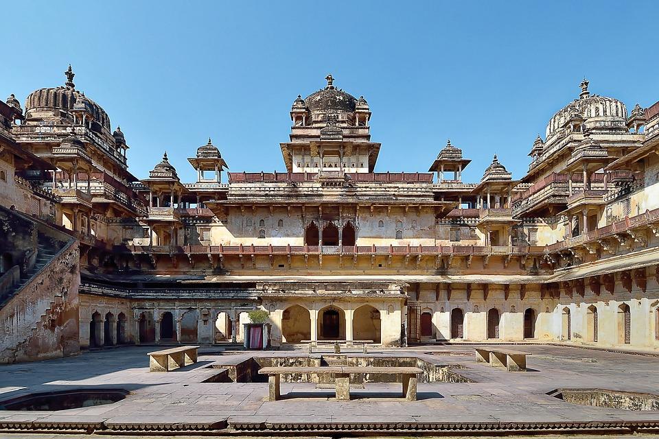 India, Orchha, Orchha Fort, Architecture, Temple
