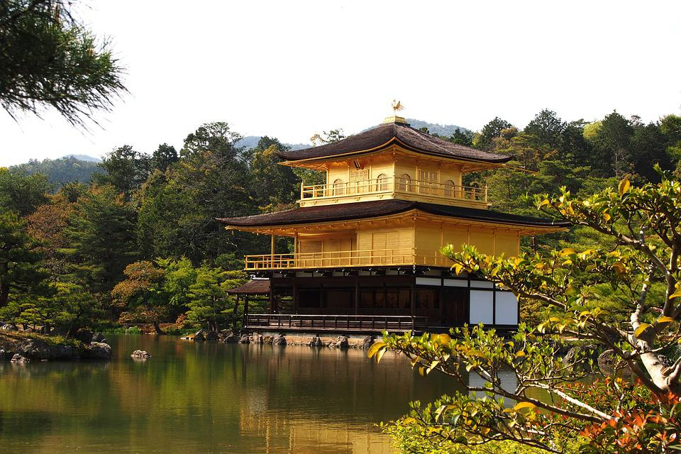 Gold Temple, Kyoto, Gold, Temple, Japanese, Religion