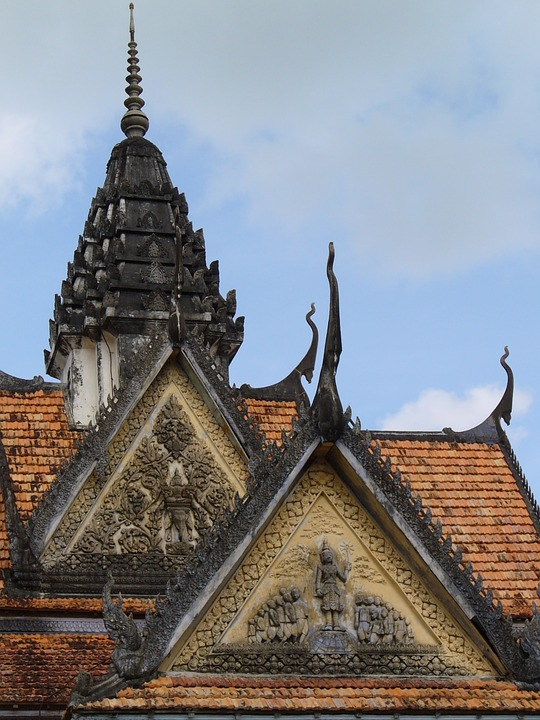 Temple, Roof Ornament, Vietnam, Architecture, Roof