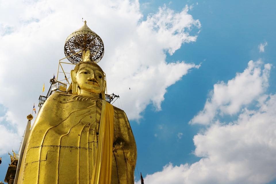 Temple, Budda, Sky, Thai, Thailand, Travel