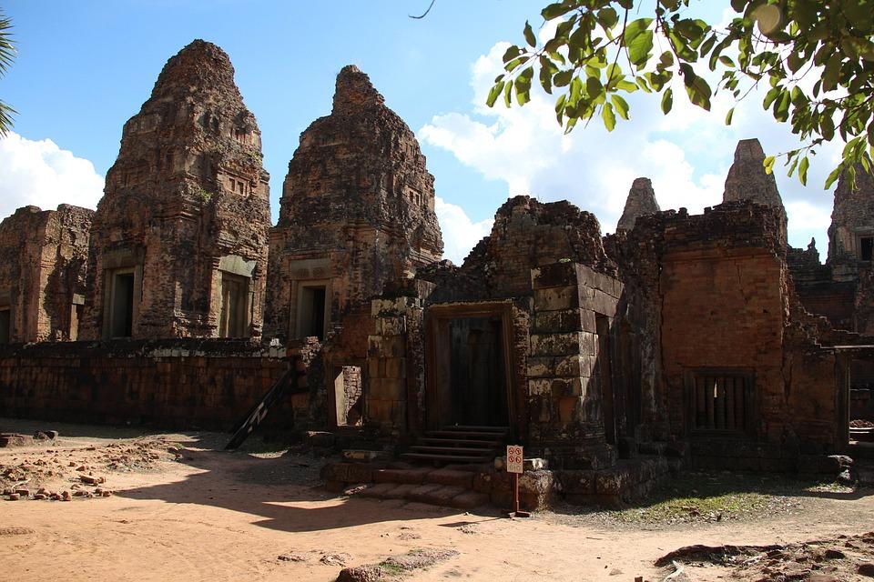 Temple, Angkor, Cambodia, Stone