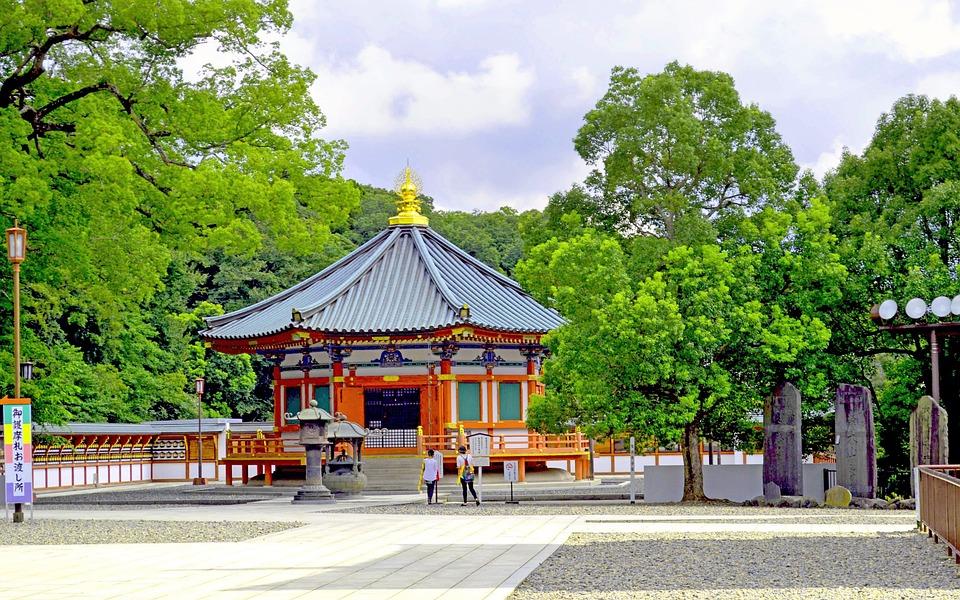 Japan, Temple, Landscape, Travel, Summer, Worship