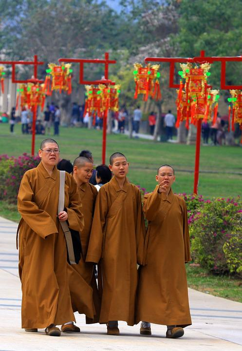 Taiwan, Monks, Temple