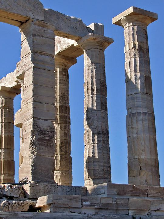 Temple Of Poseidon, Ancient, Greek, Temple, Sounio