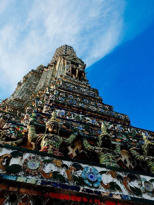 Temple, Thailand, Bangkok, Culture, Buddhist, Asia
