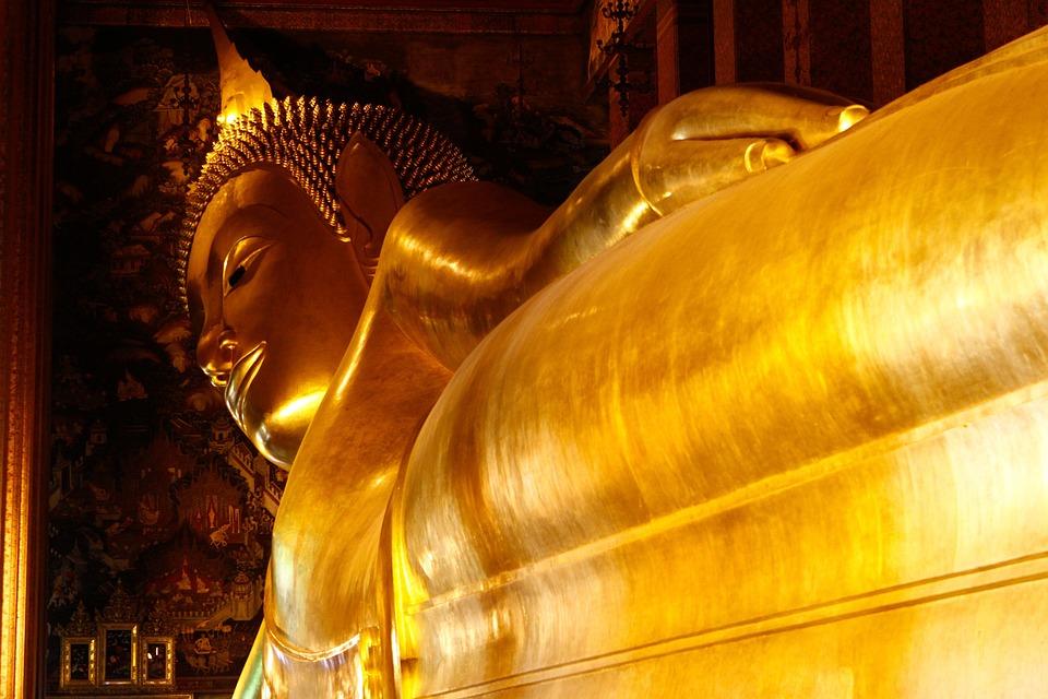 Buddha, Golden, Temple, Wat Po, Bangkok, Tha, Thailand
